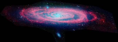 M31 - Andromeda Galaxy in Infrared (IR) Light, Observed by Spitzer